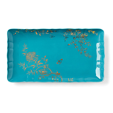 Lenox Sprig And Vine Dinnerware Hors D'Oeuvre Tray Turquoise