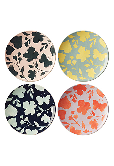 Kate Spade China by Lenox, Petal Ln Floral Accent Plate Assorted Set Of Four
