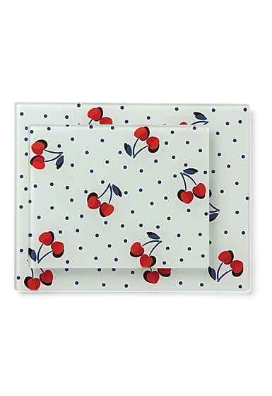 Kate Spade New York, Lenox Vintage Cherry Dot Prep Board Pair
