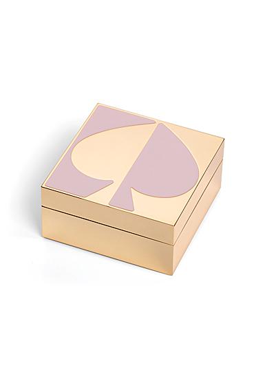 Kate Spade New York, Lenox Spade St Metal Keepsake Box Blush