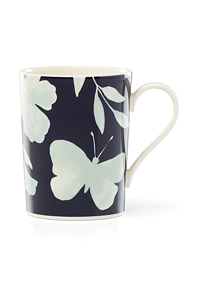 Kate Spade China by Lenox, Petal Ln Floral Mug Mint Flower