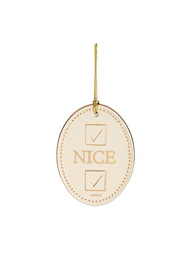 Lenox 2021 Naughty or Nice Ornament