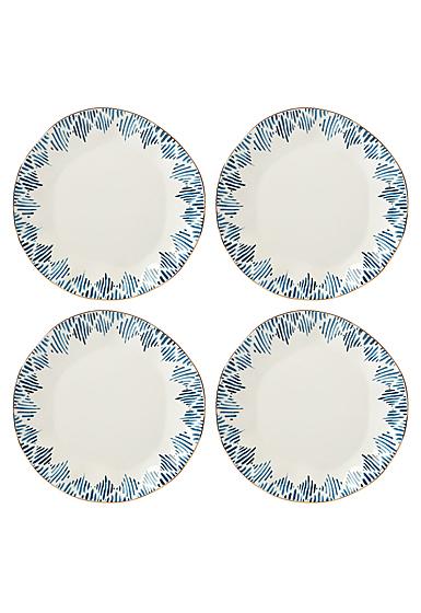 Lenox Blue Bay Dinnerware Dinner Plate Ikat Set Of Four