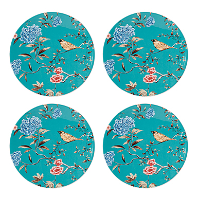 Lenox Sprig And Vine Dinnerware Accent Plate Turquoise Set Of Four
