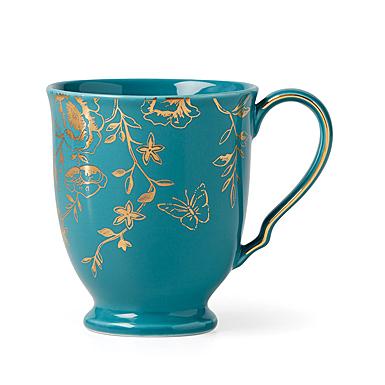 Lenox Sprig And Vine Dinnerware Footed Mug Turquoise