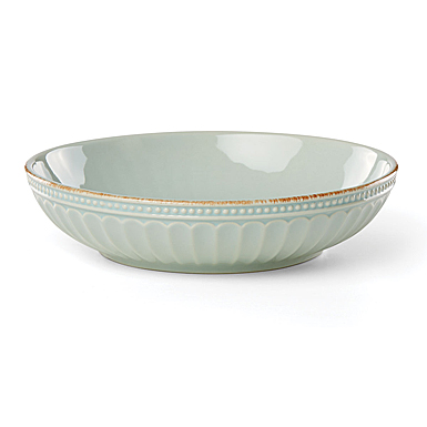 Lenox French Perle Groove Ice Blue Dinnerware Pasta Bowl, Single
