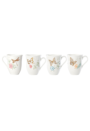 Lenox Butterfly Meadow Gold, 20th Anniversary Mug, Set of 4, Assorted