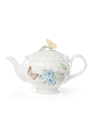 Lenox Butterly Meadow Gold Dinnerware Teapot With Lid Gold