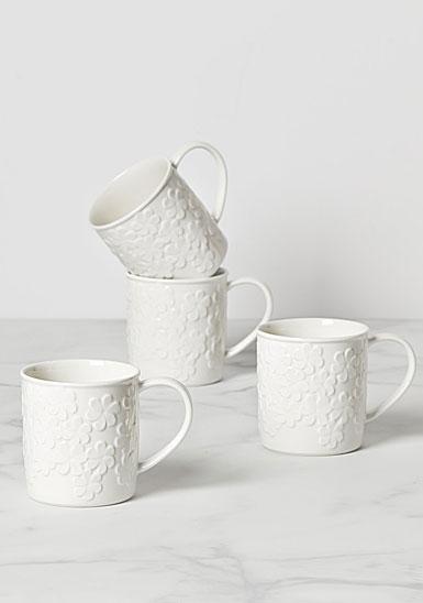 Kate Spade New York, Lenox Blossom Lane 4 Piece Mug Set