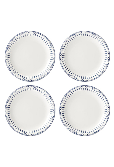 Lenox Profile Dinnerware Accent Plate White Navy Set Of Four