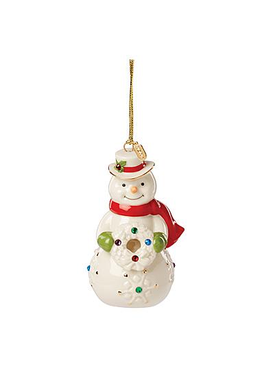 Lenox 2021 Gemmed Snowman Ornament