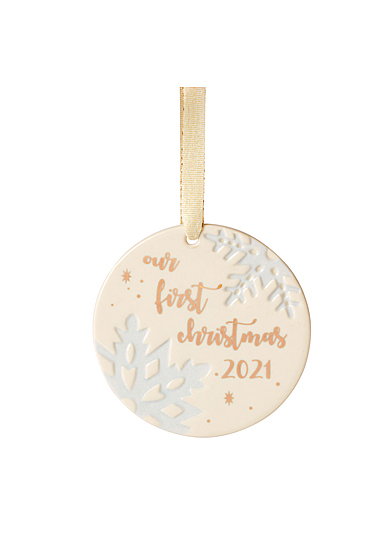 Lenox 2021 Our 1st Christmas Together Snowflake Ornament