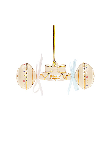 Lenox 2021 Baby's 1st Christmas Rattle Dated Ornament