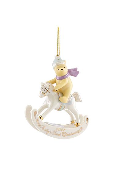 Lenox 2021 Disney 2021 Winnie the Pooh Baby's 1st Christmas Ornament