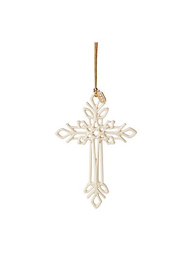 Lenox 2021 Snow Fantasies Cross Ornament
