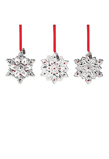Lenox 2021 Mini Metal Snowflake Ornament Set of 3
