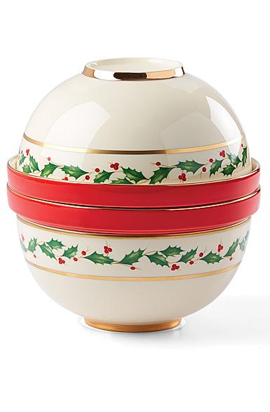 Lenox Holiday Luna Nesting Christmas Dinnerware Set