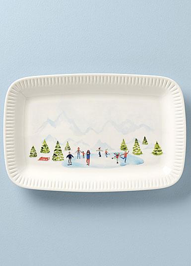 "Lenox Profile Snow Day 13.75"" Platter"