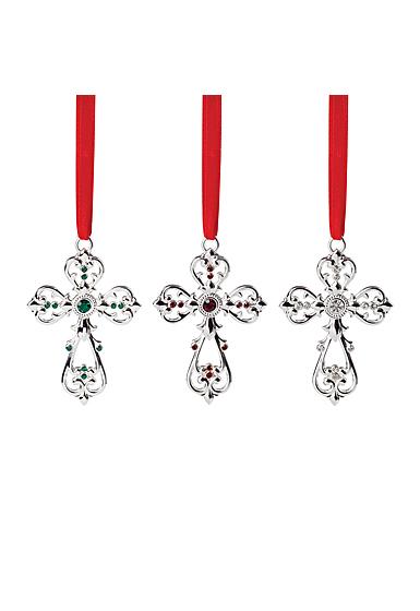 Lenox 2021 Mini Metal Cross Ornament Set of 3