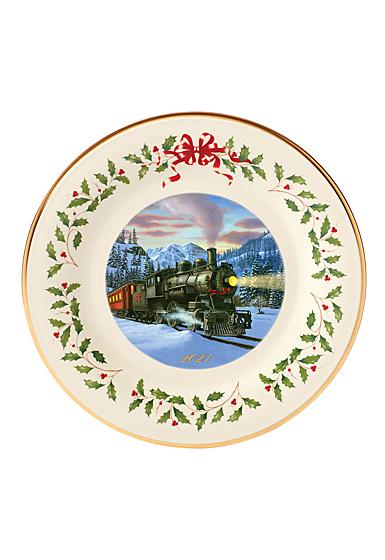 Lenox Annual Holiday Plate 2021, Train Scene