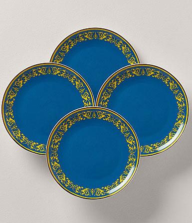 Lenox LX Remix Blue 4 Piece Accent Plate Set