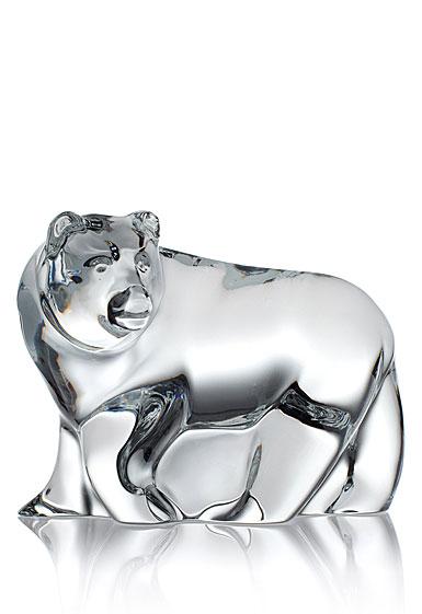 Steuben Kodiak Bear Sculpture