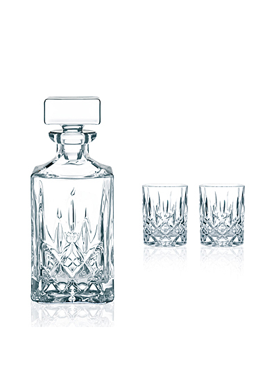 Nachtmann Noblesse Decanter and 2 Whiskey Tumblers, Set of Three