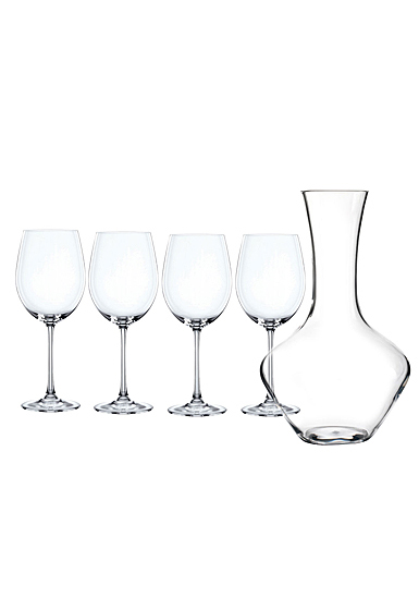 Nachtmann Vivendi Wine Decanter and Four Bordeaux Glasses Set