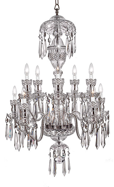 Waterford a10 chandelier waterford crystal avoca 10 arm crystal chandelier aloadofball Image collections