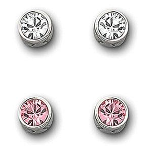Swarovski Light Rose Harley Pierced Earrings Set