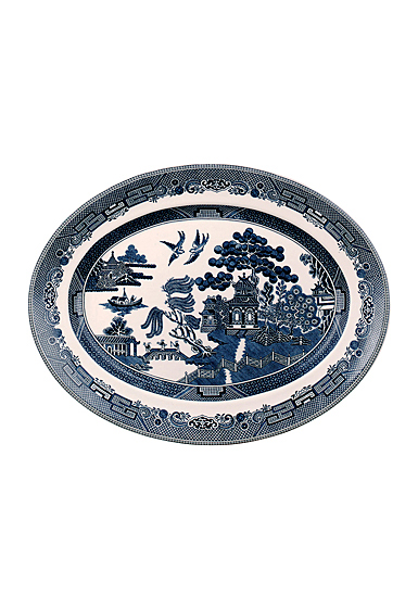 Johnson Brothers Willow Blue Oval Platter, Single