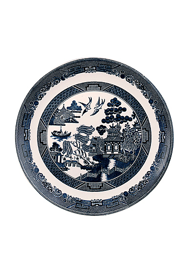 "Johnson Brothers Willow Blue Dinner Plate 11"", Single"