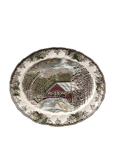 "Johnson Brothers Friendly Village Oval Platter 15.25"""