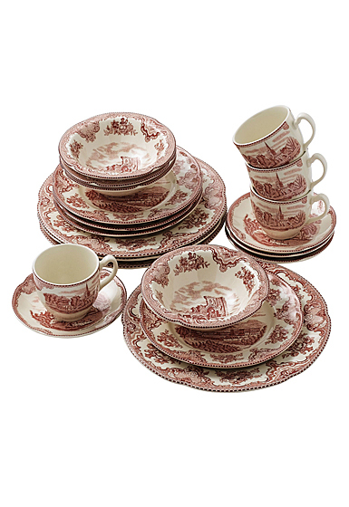 Johnson Brothers Old Britain Castles Pink 20-Piece Set