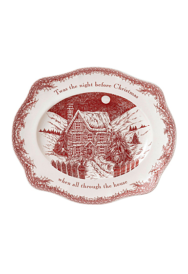 Johnson Brothers Twas The Night Oval Platter