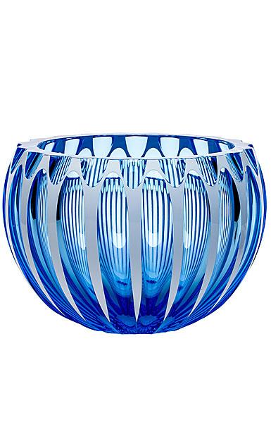 "Moser Crystal Century Bowl 9.8"" Aquamarine and White"