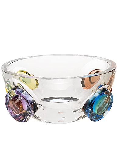 """Moser Crystal Galaxy Bowl 10.8"""" Multicolor"""