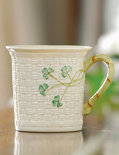 Belleek China Shamrock Mug, Single