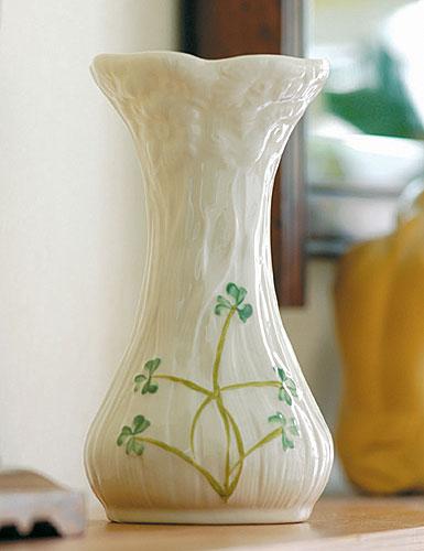 Belleek China Daisy Spill Vase