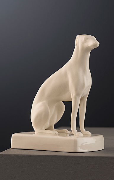 Belleek Masterpiece Collection Female Greyhound Sitting Limited Edition