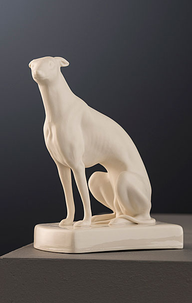 Belleek Masterpiece Collection Male Greyhound Sitting Limited Edition