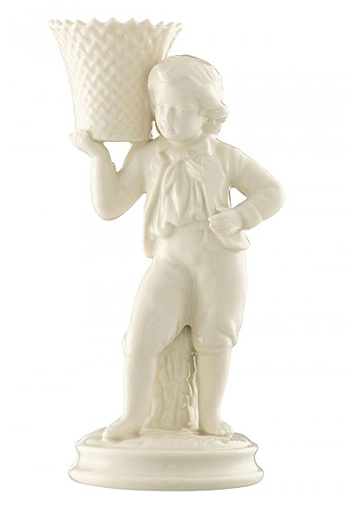 Belleek China Boy Basket Carrier 1877 - 1887, Limited Edition of 170