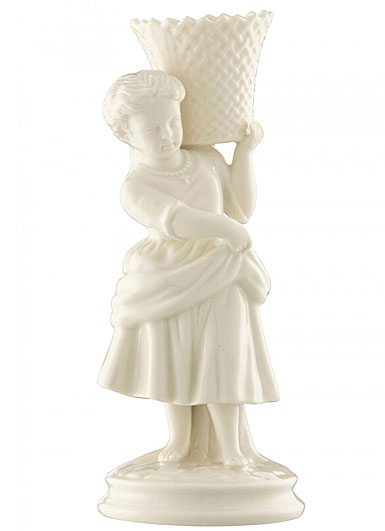 Belleek China Girl Basket Carrier 1877 - 1887, Limited Edition of 170