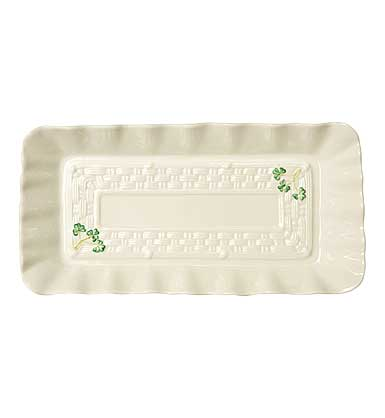 Belleek China Shamrock Sandwich Tray