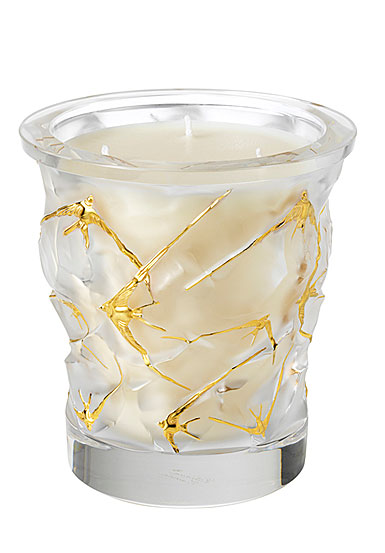 Lalique Oceans Gold Edition Crystal Scented Candle