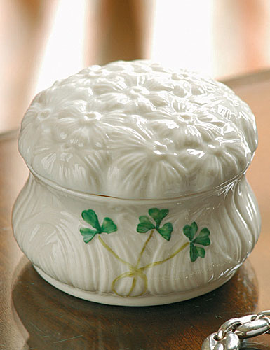 Belleek China Daisy Trinket Box