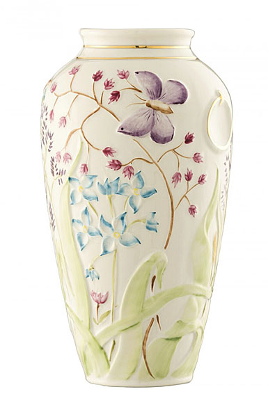 Belleek China Papillon Vase 1987 - 1997, Limited Edition of 300