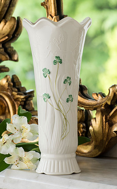 Belleek Woodland Shamrock Vase