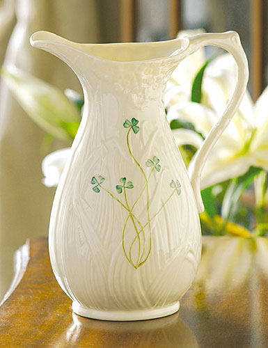 Belleek China Daisy Pitcher