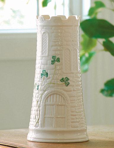 Belleek China Castle Vase